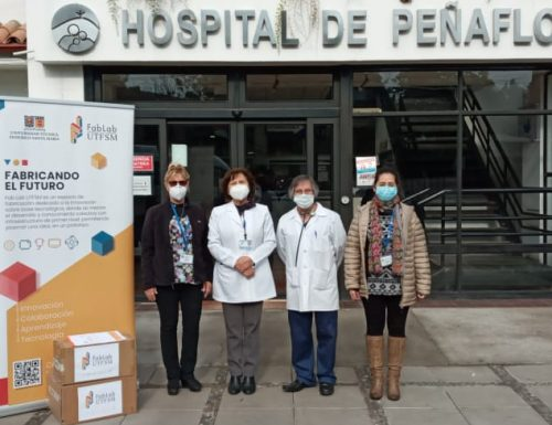 FabLab USM dona escudos faciales en hospitales de Concepción y Peñaflor